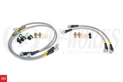 Stoptech Stainless Steel Brake Lines - Z34 370Z Front & Rear (Akebono)