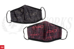 RAYS Official Face Mask (Set of 2) - Red / Gray