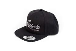 TF-Works Splash Logo Snap Back Hat - Black with Gunmetal Stitch