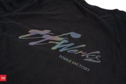 TF-Works T-shirt - Black Rainbow Splash