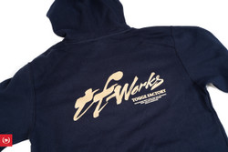 TF-Works Fitted Lightweight Pullover Hoodie - Navy Blue