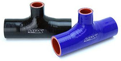 HPS High Temperature Reinforced Silicone Coupler T Hose Adapter Black / Blue