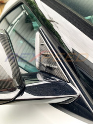 Rexpeed  V1 Carbon Fiber Anti - Buffering Wind Deflectors - GR Supra