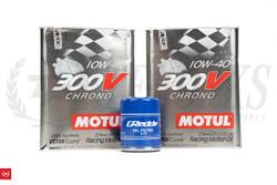 SR20DET & KA24DE Motul 300V Engine Oil + Greddy Oil Filter for Stock Oil Pan