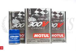 SR20DET & KA24DE Motul 300V Engine Oil + Greddy Oil Filter for Oversize Oil Pan