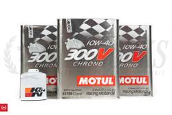 SR20DET & KA24DE Motul 300V Engine Oil + K&N Oil Filter for Oversize Oil Pan