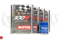 TF Kswap Oil Pan Motul 300V Engine Oil + Greddy Oil Filter Package