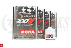 TF Kswap Oil Pan Motul 300V Engine Oil + K&N Oil Filter Package