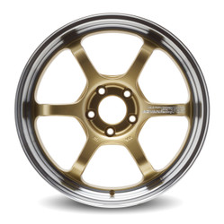 "Yokohama Advan R6 18"" - Machining & Racing Brass Gold"