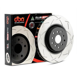 DBA T3 Slotted Brake Rotor - Genesis Coupe Track Edition R-Spec Rear Rotor