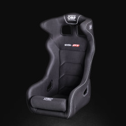 OMP RS-P.T. 2 Fiberglass Racing Bucket Seat - Black