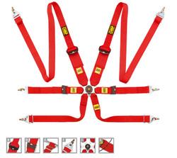 OMP 6 Point Safety Racing Harness: 805 LEGGERA