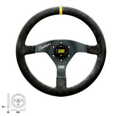 OMP Velocita Superleggero 350mm Aluminum Flat Suede Steering Wheel