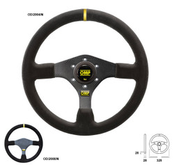 OMP Carbon Fiber 325mm Flat Suede Steering Wheel