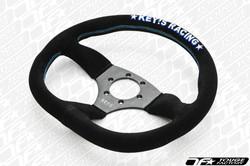KEY'S RACING D-Shape Semi-Deep Steering Wheel (345x320mm/Suede)