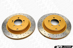 DBA 4000 XS Drilled Slotted Brake Rotors - Nissan 350Z w Brembo Front