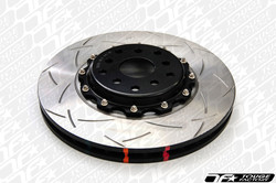 DBA 5000 T-Slot 2-Piece Rotor with Black Aluminum Hats - Subaru WRX STI 2004+