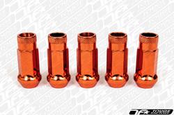 MUTEKI SR48 Open Ended Lug Nut - Chrome Orange