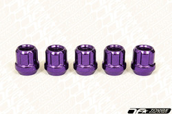 MUTEKI Classic Open Ended Short Lug Nuts - PURPLE