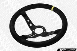OMP Corsica Superleggero 350mm Steering Wheel - Black Suede with Black Spokes (ONLY 1.45LBS!)