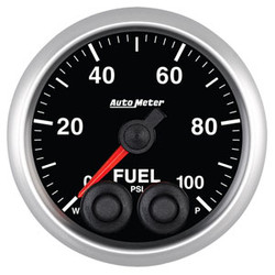 Auto Meter Elite Fuel Pressure Gauge 52mm 0-100 PSI