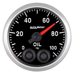 Auto Meter Elite Oil Pressure Gauge 52mm 0-100 PSI