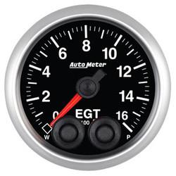 Auto Meter Elite Exhaust Gas Temperature EGT Gauge 52mm 0 - 1600ºF