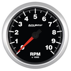 "Auto Meter Elite Tachometer Gauge 85.7mm (3 3/8"") 0-10,000 RPM"