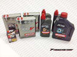 Complete Fluid Change Nissan 240SX S13 S14 - Motul 300V Engine Oil Package - Oversize Oil Pan