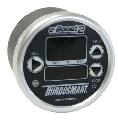Turbosmart e-Boost2 Electronic Boost Controller, 60mm Black Face, Silver Bezel