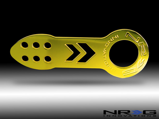 NRG Tow Hook- Front- Gold