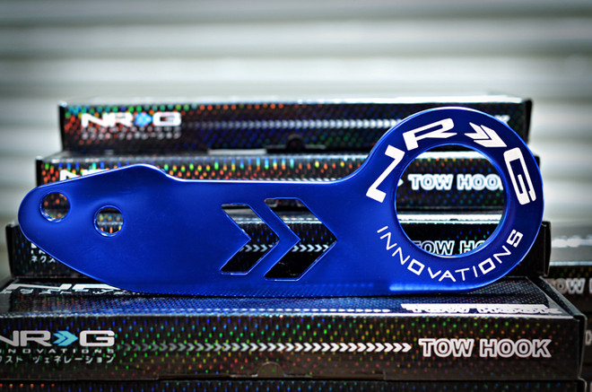 NRG Tow Hook- Rear- Blue