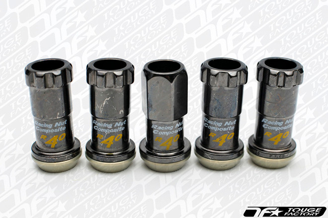 KICS Project R40 Composite Racing Lug Nuts Regular Gun Metal
