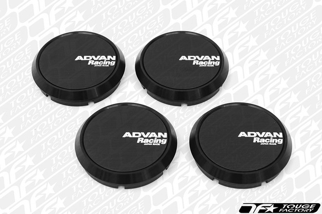 Advan Racing Center Cap 63 Flat Type- Black