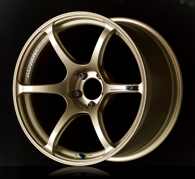 Advan RGIII - Racing Gold Metallic & Racing Gloss Black - 4x100.0 - 63mm Bore - 18x7.0 +42 (Euro Sizing)
