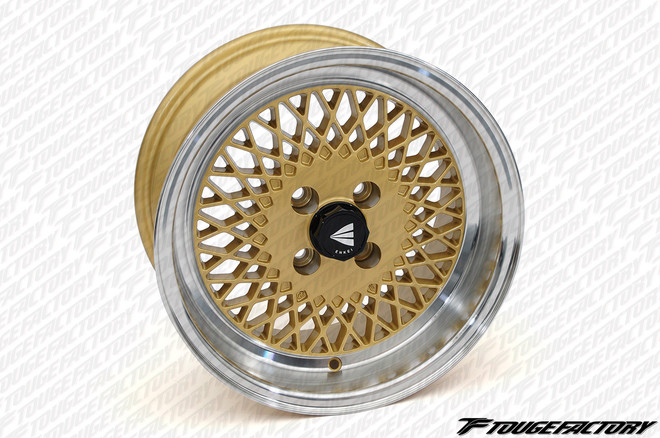Enkei ENKEI92 - Silver/Black/Gold - Machined Lip - 15x7 +38