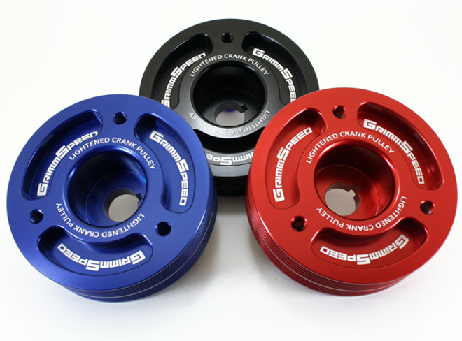 GrimmSpeed Lightweight Crank Pulley - Subaru All EJ Engines