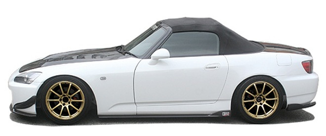 Charge Speed Bottom Line Side Skirts: Carbon - Honda S2000 AP1/2