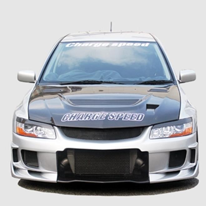 Charge Speed Vented Hood: Carbon - Mitsubishi EVO 8