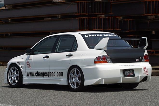 Charge Speed Rear Bumper: FRP - Mitsubishi EVO 8/9
