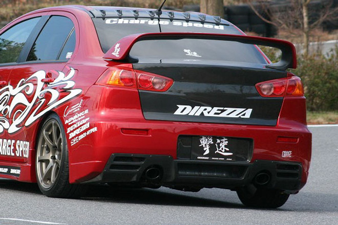 Charge Speed Type-1 Rear Bumper: FRP - Mitsubishi EVO 10