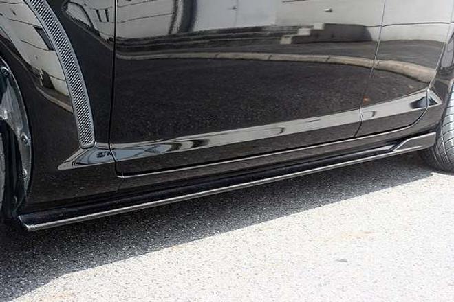 Charge Speed Bottom Line Side Skirts: Carbon - Mazda RX8