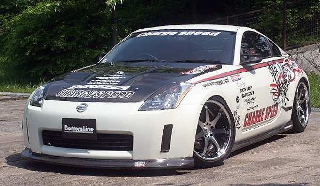 Charge Speed Bottom Line Side Skirts: FRP - Nissan 350Z Z33