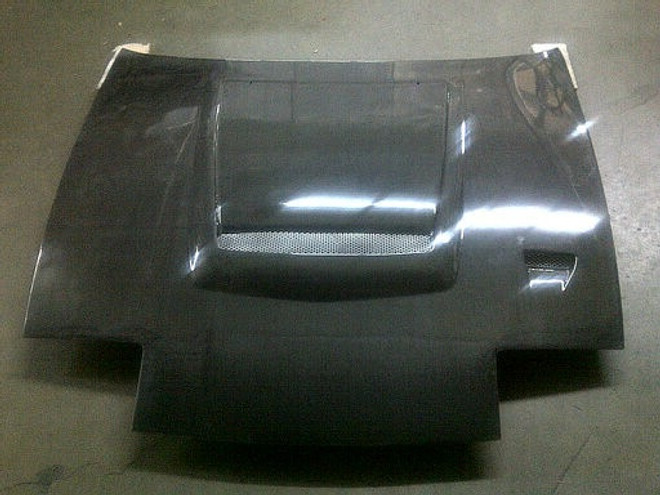 Charge Speed Flip-Eye Vented Carbon Fiber Hood - Nissan 240SX S13