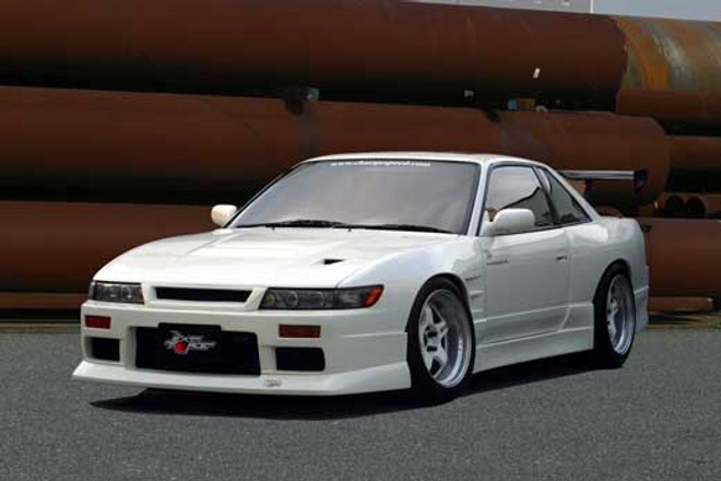 Charge Speed JDM Front-End, Non-Flip Light Front Bumper - Nissan Silvia 240SX S13