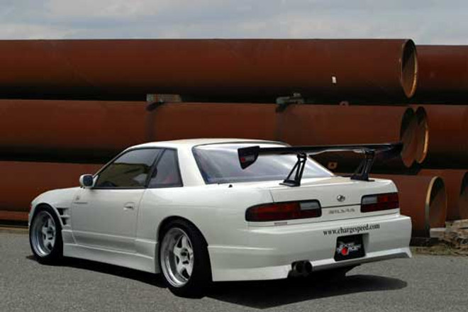 Charge Speed 50mm Wide Body Rear Fenders (Pair) - Nissan Silvia CP 240SX S13