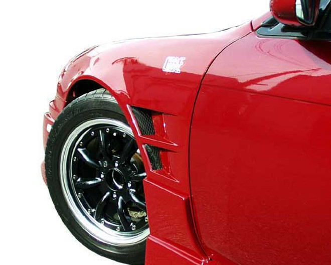 Charge Speed Kouki Front Fenders (Pair): FRP, 20mm Wide Body - Nissan 240SX S14
