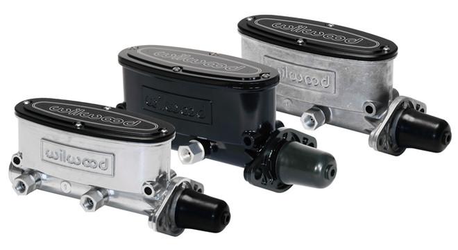 """Wilwood Aluminum Tandem Master Cylinder - 1-1/8"""" Bore Size - Black / Media Burnished Finish"""