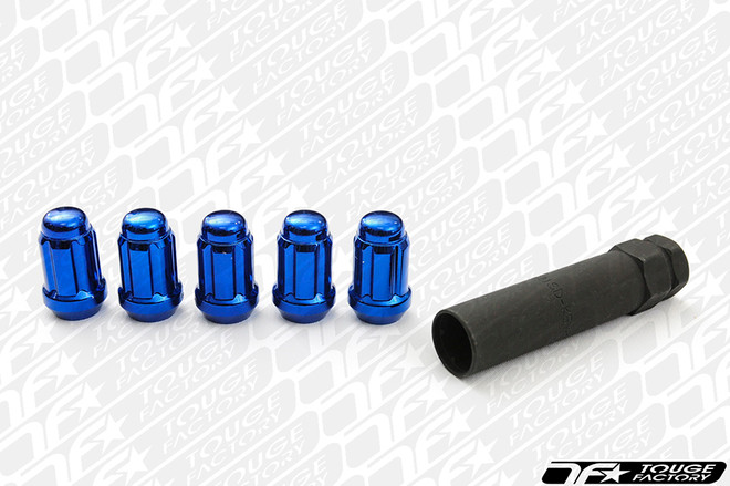 Gorilla Thin Small Diameter Blue Lug Nuts