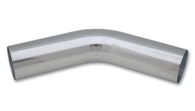 "Vibrant 4"" O.D. Aluminum 45 Degree Bend - Polished"